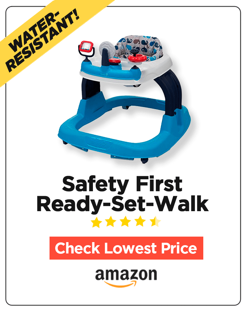88e98f4d6264 If you want a safe walker with an ultra-wide base for your little crawler  then Safety 1st Ready-Set-Walk Walker should be a decent choice.